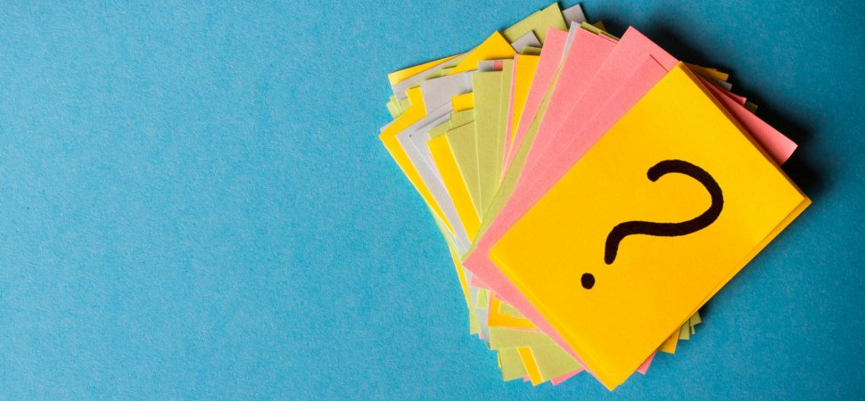 post-its with a question mark